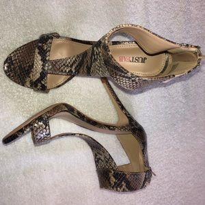 Just Fab snake heels